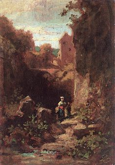 The Athenaeum - Two Woman in a Hollow (Carl Spitzweg - )