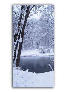 Winter im Park Motivdruck Papier