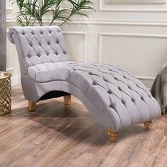 This tufted chaise lounge is a wonderful addition to any room in your home. Put it in the living room as the perfect TV watching chair, or place it in your bed room for ultimate relaxation time. Careful not to fall asleep on this lounge as you may decide it is more comfortable than your bed.... more details available at https://furniture.bestselleroutlets.com/living-room-furniture/chaise-lounges/product-review-for-bellanca-fabric-tufted-chaise-lounge-chair-light-grey/
