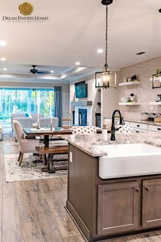 Looking for a home in Jacksonville? Kitchen Trends, Kitchen Ideas, Kitchen Decor, Kitchen Design, Farmhouse Style Kitchen, Farmhouse Design, Kitchen Sink, Kitchen Cabinets, House Hacks
