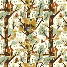 Woodland-inspired textile collection Fort Firefly, by Teagan White for Birch Fabrics