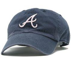 Atlanta Braves Women's Navy & Pink Adjustable Cap - Navy Adjustable