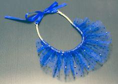 Collier corde, tulle, cord necklace, diy, collier de fête