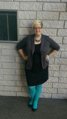 Fatshion OOTD featuring my new We Love Colors tights!