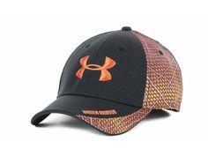 under armour blaze orange fitted hat
