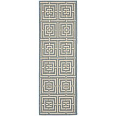 "Safavieh Courtyard Collection CY6937-23 Blue and Bone Runner Area Rug, 2 feet 3 inches by 8 feet (2'3"" x 8') Safavieh http://www.amazon.com/dp/B00BUI8CG0/ref=cm_sw_r_pi_dp_GqY2vb08B6VFV"