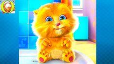 Джинджер - рыжий говорящий котик. Весёлое видео для детей Talking Ginger...