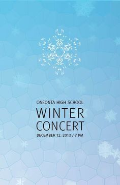 A Christmas Concert Program Cover Design  Carmen Rimple