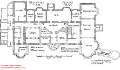 Hartwell House, Buckinghamshire. Plan of the ground floor.