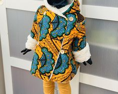 Baby African Clothes, Tartan, African Fashion, Kids Fashion, Ankara Styles For Kids, Baby Crafts, Little People, Coat, Etsy