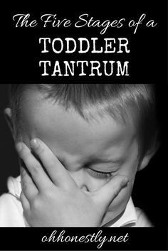 The Five Stages of a Toddler Tantrum - Oh, Honestly!
