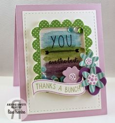 Color Challenge card by Lisa Henke | Reverse Confetti Petals 'n Posies and All About You stamp sets. Petals n' Posies, Love Note Confetti Cuts, Class Act Confetti Cuts. Thank you card. Friendship card.