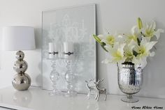 White and silver decoration - Home White Home -blog