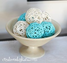 Creations by Kara: DIY Spray Paint Decor Balls - rattan balls purchased from the dollar store/craft store then painted! Cheap Diy Home Decor, Diy Home Decor Projects, Diy Projects To Try, Decor Crafts, Home Crafts, Craft Projects, Diy Crafts, Project Ideas, Spray Paint Projects