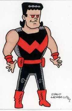 Fred-Hembeck-Color-Sketch-Card-Wonder-Man-5-grey-w-mullet-Avengers-Marvel-1-1