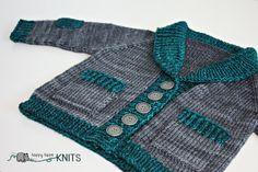 Infant Baby cardigan sweater - custom knitting - Gramps grandpa old man sweater - baby boy sweater by Happy Hippo Knits