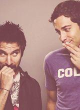 Morgan Grimes (Joshua Gomez) and Chuck Bartowski (Zachary Levi)
