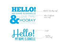 Mix of Typefaces