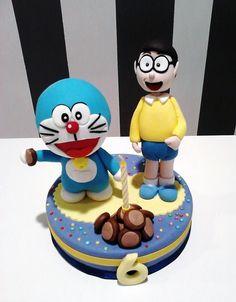 Doraemon cake topper