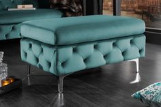 Luxusný dizajn barokový taburet. Chesterfield, Aqua, Stool, Chair, Elegant, Vanity Bench, Ottoman, Furniture, Design