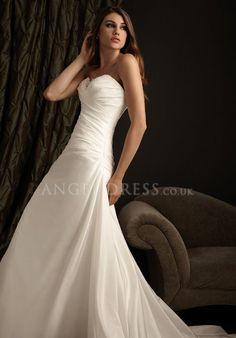 A line Sweetheart Sleeveless Zipper up Floor Length Taffeta Wedding Dress
