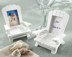 """Beach Memories"" Miniature Adirondack Chair Place Card Holder  (Set of 4)"