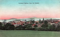 Auckland Harbour from the Domain in about Postcard by Spreckley & Co. Printed in Germany. I Remember When, Auckland, Postcards, Germany, Printed, Photos, Pictures, Deutsch, Prints