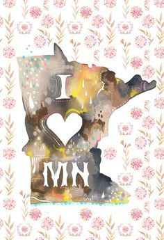 At Home in Minnesota vertical print by thewheatfield on Etsy, $18.00