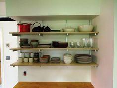 kitchen corner shelving ideas