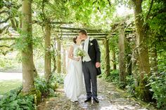 The gardens at Mapperton provide plenty of wedding photo opportunities   Catherine & Tristan at Mapperton. Photo credit David Craik Photography