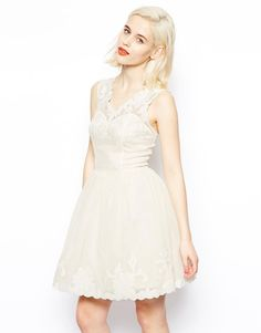 Image 1 of ASOS Gothic Prom Dress