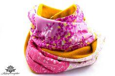 Gelb - pinkerv Winter Loop-Schal mit Fleece von #Lieblingsmanufaktur: Farbenfrohe Loop Schals, Tücher und mehr auf DaWanda.com