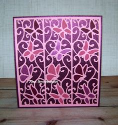 Ann Greenspan's Crafts: Ecstasy Crafts: Butterflies in Flight Wedding Card