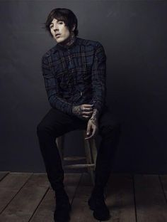 . oliver sykes . // he literally looks like he could be a character from Bates Motel.