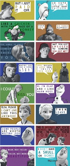 Frozen Quotes The perfect pin for tonight since me and @brandon2895 just watched Frozen for the first time!