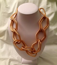Rose Gold Chunky Link Necklace and Earrings Set from AFAB Boutique on Storenvy