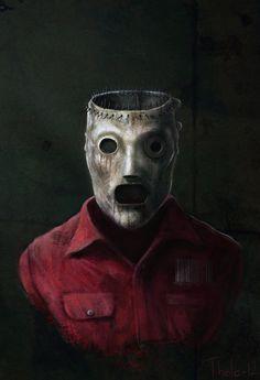 A portrait of Corey Taylors mask - Slipknot Corey Slipknot Logo, Slipknot Band, Slipknot Tattoo, Heavy Metal Art, Black Metal, Muro Rock, Cyberpunk, Rock Band Posters, Joker Images