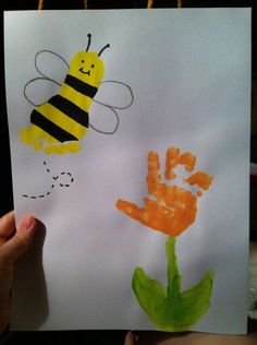 Bumble bee art from toddler to aunt