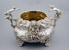 Sugar Bowl London 1850 by C, T & G Fox From one of Edward Farrell's Silver molds bought when he died in 1850