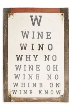 This rustic, American-made sign is a perfect gift for any wine connoisseur.