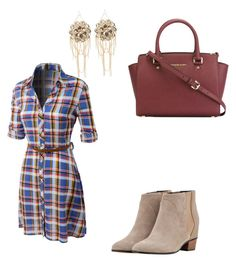 """Untitled #20"" by ajvoecks-1 on Polyvore featuring LE3NO, Augusta, MICHAEL Michael Kors and Bebe"