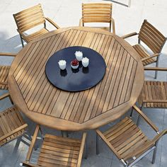 Teak Outdoor, Round Patios, Teak Furniture, Patios Sets, Westminster