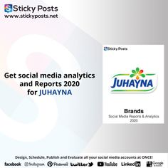 "Juhayna social media analysis for 2020 Quarter one totally for FREE!    NOW you can manage all your social media accounts at once!  Sticky Posts System the most economical social media management tool all over the world now available in the Middle East & Africa!  Our Unique Services:-  - Posts Generator "" Design all your social media posts automatic""  - Automatic Scheduling "" Save time & Schedule all your social media activities in less than 10 min""  - Automatic Publishing "" You only need to… Social Media Analysis, Facebook O, Social Media Management Tools, Social Media Branding, East Africa, Middle East, Schedule, Accounting, Posts"