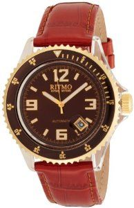 Ritmo Mundo Women's 312 Brown YG Hercules Automatic Watch Ritmo Mundo. $350.00. Case diameter: 44 mm. Arabic numerals at 3, 6, 9, 12 position; 18 hour power reserve. Water-resistant to 165 feet (50 M). Polycarbonate and stainless steel automatic. Silver luminous hands, date window at 4 position