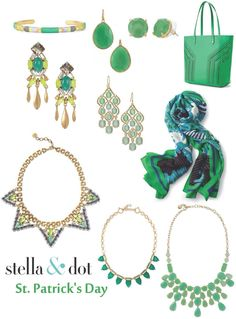 St.Patrick's Day accessories! Buy the looks here:  http://www.stelladot.com/juliegannon
