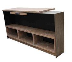 Custom Metal Reception Desk for a Yoga Studio