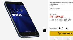 Smartphone Asus Zenfone 3 1A074BR 32GB 16MP Preto Safira << R$ 129900 em 10 vezes >>