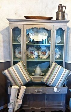 French Linen, with a Paris Grey wash Chalk Paint® #chalkpaint #morethanpaint
