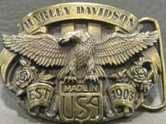 harley-davidson® mens collector belt buckle skull fire motorcycle