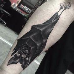 16 Dark and Daunting Blackwork Bat Tattoos Cover Up Tattoos, Tattoo Drawings, Body Art Tattoos, Sleeve Tattoos, Cool Tattoos, Demon Tattoo, Dark Tattoo, Tattoo You, Samurai Tattoo